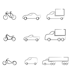 Icons set vehicles vector image