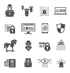 Internet security icon set vector