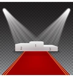 Podium for winner illuminated vector image vector image