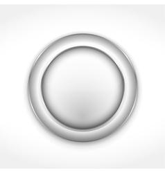 Round Gray Button vector image