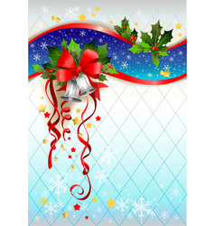Silver bells winter background vector image