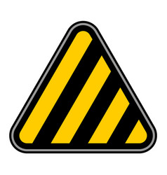 Stripes road sign barricade tape sticker vector