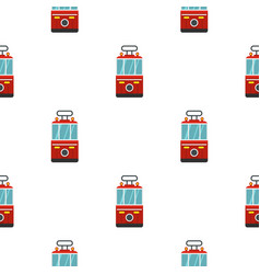 Traditional turkish public tram pattern seamless vector