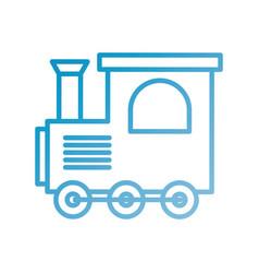 train toy children locomotive miniature vector image