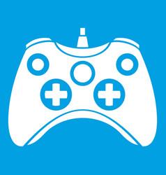 video game controller icon white vector image