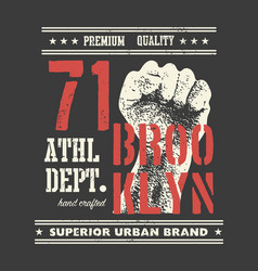 vintage urban typography t-shirt graphics vector image