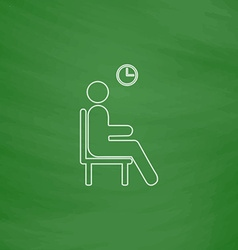 Waiting computer symbol vector