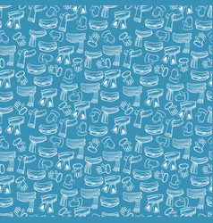 winter scarves mittens seamless pattern vector image vector image