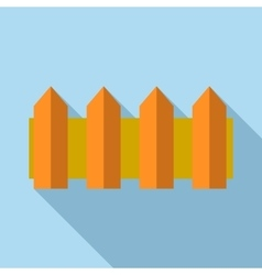Wooden fence icon flat style vector image
