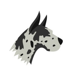 Great dane dog icon flat style vector