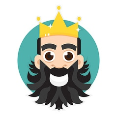 King logo king icon vector