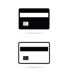 Card set in black and white color vector
