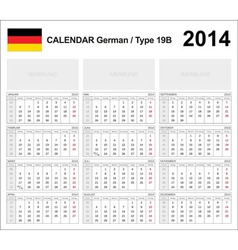 Calendar 2014 german type 19b vector