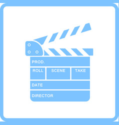 Movie clap board icon vector