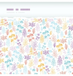 Colorful flowers and plants horizontal torn vector