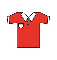 color silhouette cartoon red golf t-shirt sport vector image