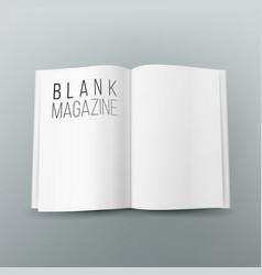 Open magazine spread blank  3d realistic vector