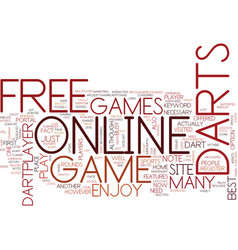 Free online darts game text background word cloud vector