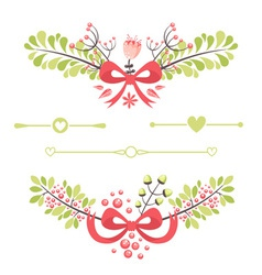Felegant floral decorative elements vector