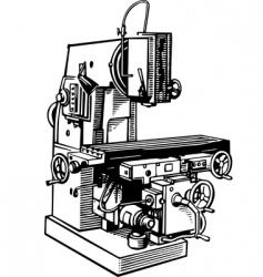 machine tool vector image
