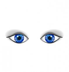 Pair of human blue technology vector