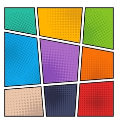 Comic halftone background vector image