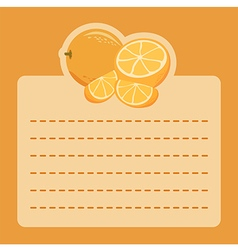 Orange memo notes vector