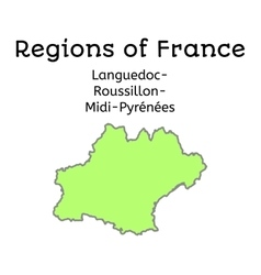 France administrative map of lang-rouss-midi-pyr vector