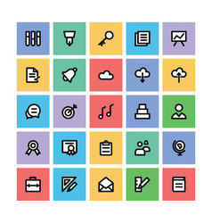 Education square icons 2 vector