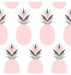 Pink pineapples pattern vector