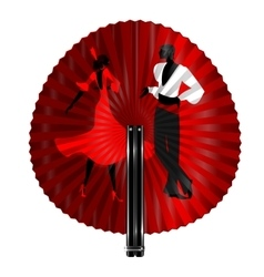 Fan flamenco dancers vector