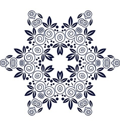 Mandala flower decorative element vector