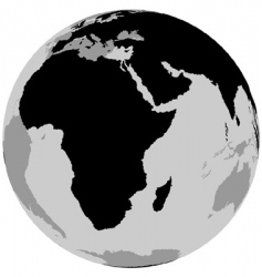 earth Africa vector image
