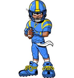 black african american football player cartoon vector image vector image
