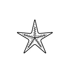 black silhouette of sea starfish vector image vector image