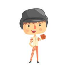 Boy baseball playerkids future dream professional vector