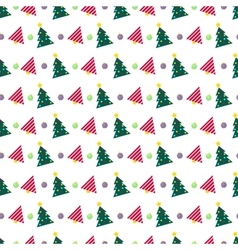 Christmas seamless pattern with christmas tree vector