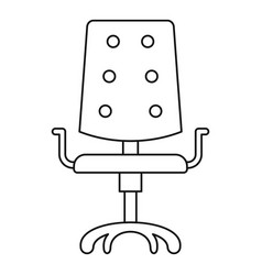 Computer chair icon outline style vector