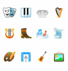 culture icons vector image vector image