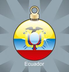 Ecuador flag on bulb vector image vector image