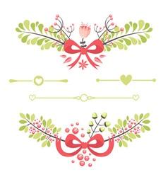 fElegant floral decorative elements vector image