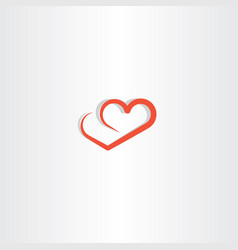 Heart line logo icon love element vector