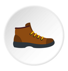 Hiking boot icon circle vector