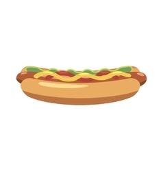 Hotdog icon cartoon style vector image
