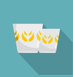 mug icon flat style vector image vector image