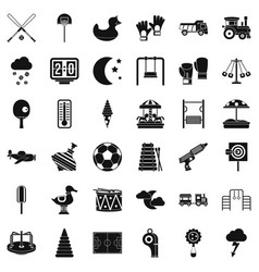 New playground icons set simple style vector