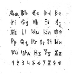 old norse scandinavian font runic alphabet vector image