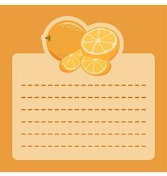 Orange Memo Notes vector image vector image