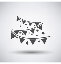 Party garland icon vector