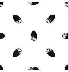 Pecan nut pattern seamless black vector